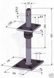 hbl handel pfostentr ger mit dorn zum aufschrauben. Black Bedroom Furniture Sets. Home Design Ideas